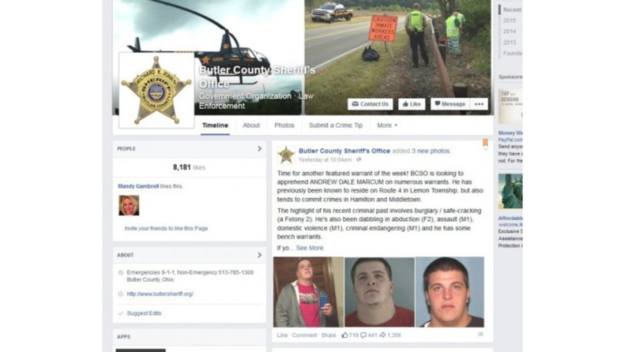 Man turns himself in after responding to sheriff's Facebook post