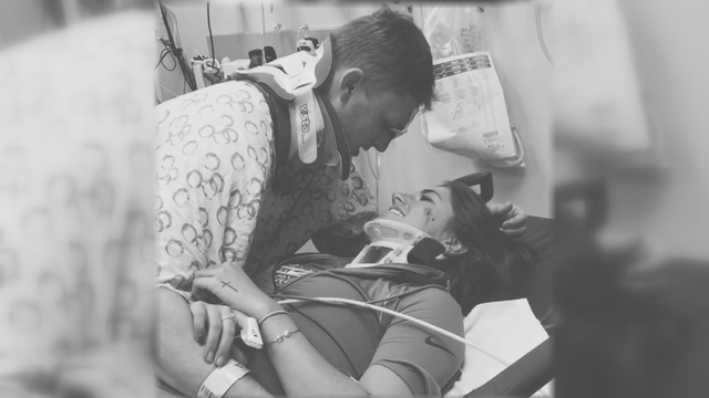 Photo of Lipscomb couple reuniting after crash goes viral