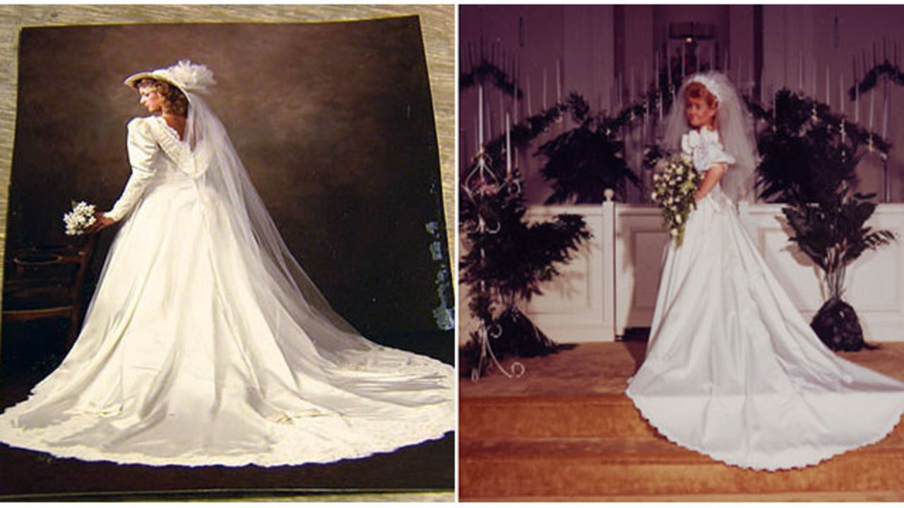 Tennessee brides to swap wedding dresses 30 years after dry cleaning ...