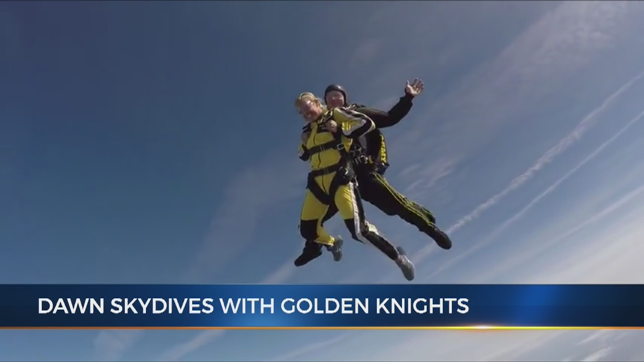 dawn davenport skydives with us army golden knights - wkrn