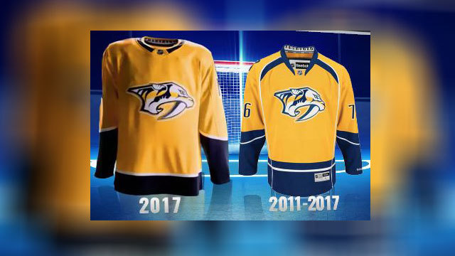 c8e6fb7b1 ... jerseysdiscount nhl jerseys  nashville predators get new uniforms for  2017 2018 season