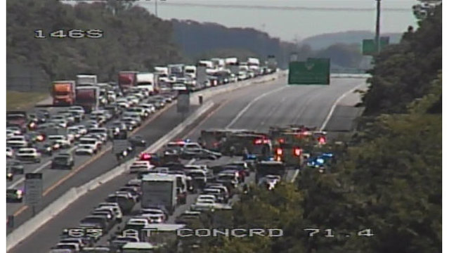 2 people thrown from SUV in 4-car crash on I-65 South