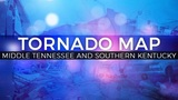 Mid. Tennessee and Kentucky Tornado Map