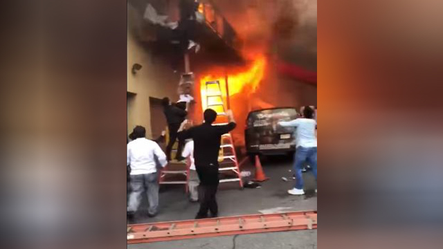 Screaming children escape New Jersey dance studio during raging fire