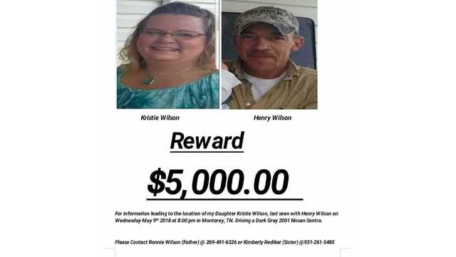 Car of Putnam County couple who have been missing since May