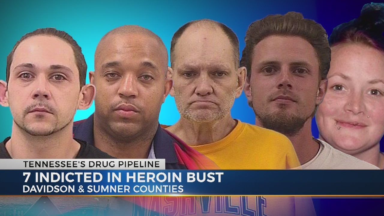 7 indicted in heroin bust