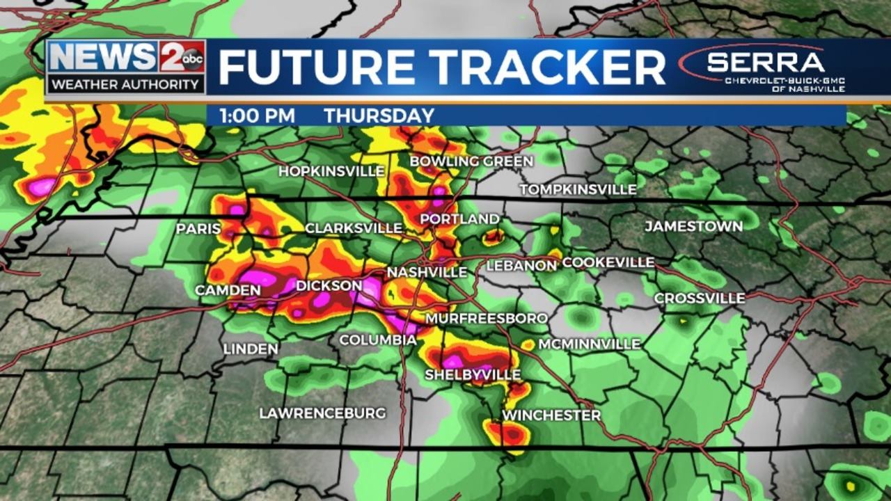 Stormy Pattern Continues With More Severe Weather Expected For Middle Tennessee