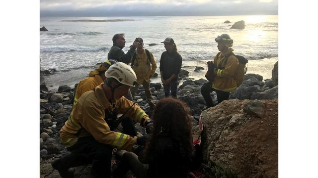 Stranded woman drank water from moss after California crash