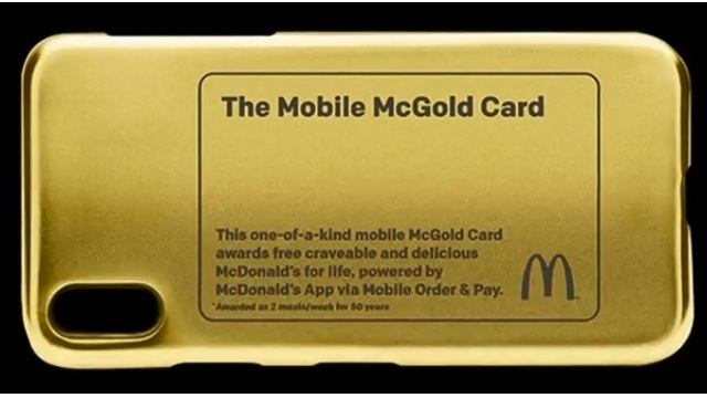 McDonald's giving away McGold card, giving one person free food for life