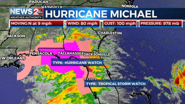 hurricane michael aims for florida near miss expected for tennessee