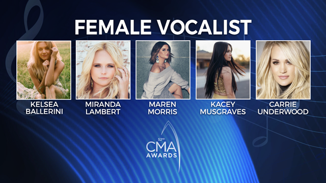 52nd Annual CMA Awards: Female Vocalist of the Year