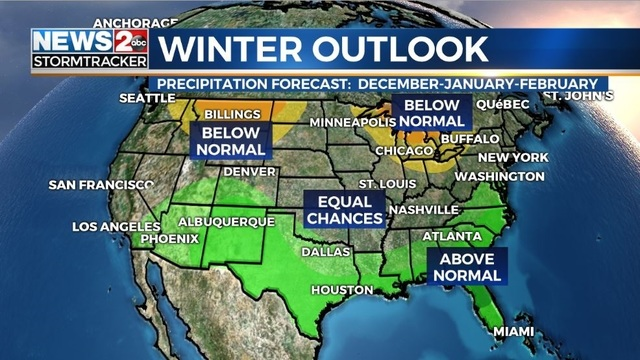 National Weather Service Releases Winter Weather Outlook