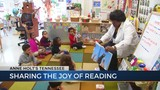 Volunteer reads to class of 4-year-olds hoping to jump-start reading skills