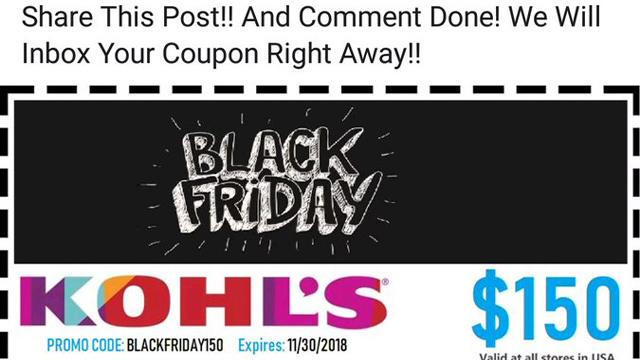 fake black friday coupons make the rounds on social media