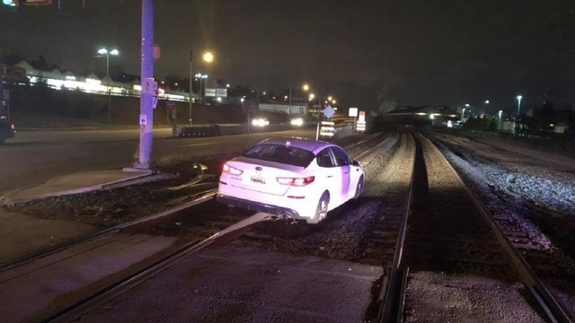 Police: Woman drove onto railroad tracks because GPS told her to
