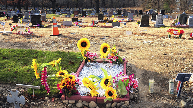 At a cemetery, bones tossed like trash, and families in pain