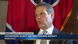 Governor-elect Lee weighs in on shutdown, talks about inaugural speech