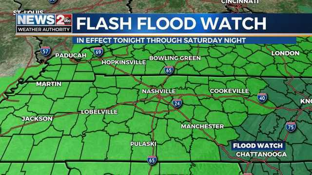 Tornadoes Flash Flooding Threaten Middle Tennessee