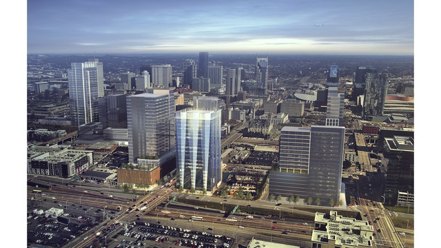 Renderings of office tower under construction on Broadway released