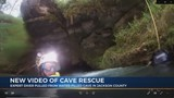 Moments of cave diver rescue captured on body cam video