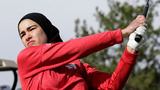 College golfer in hijab out to blaze trail for Muslim girls