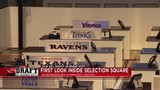 An inside look at 'Selection Square' where teams make Draft choices