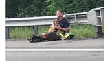 Loyal pup refused to leave his master's side after bad crash in Kentucky