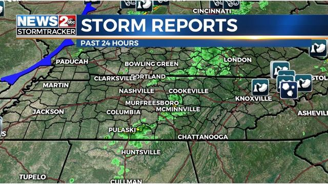 So far, no reports of severe weather in Middle TN, South KY