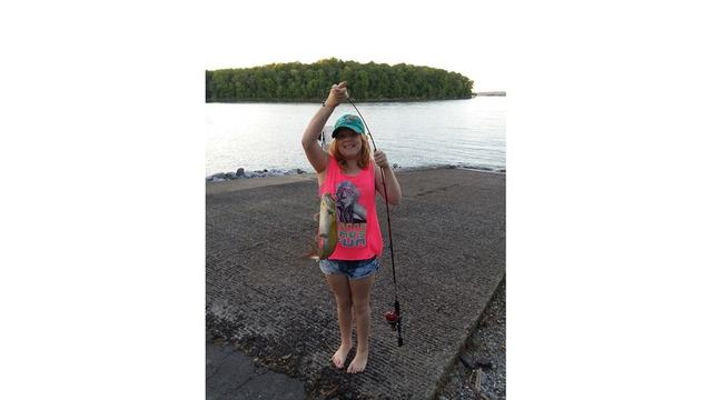 6-8 Sandy and Larry Smith daughter Emma with her first catfish of the summer and I believe the biggest she's caught yet! We were on Kentucky Lake_1559975067771.jpg.jpg