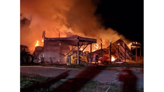 Barn destroyed in Rutherford County fire