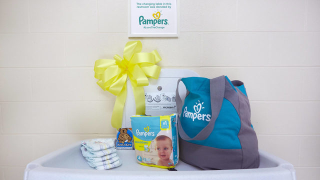 Pampers pledges to install baby changing tables in men's restrooms